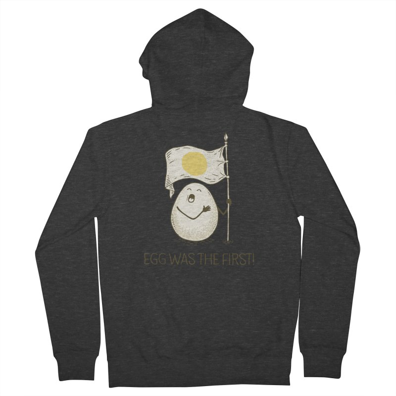 anthem of eggs  Men's French Terry Zip-Up Hoody by gotoup's Artist Shop