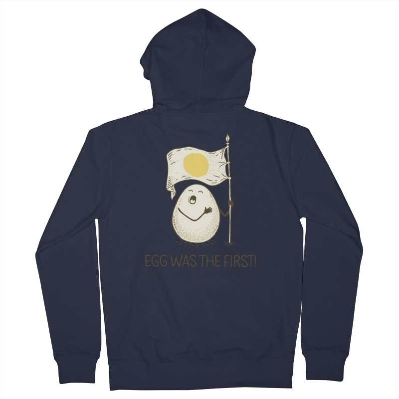 anthem of eggs  Men's Zip-Up Hoody by gotoup's Artist Shop