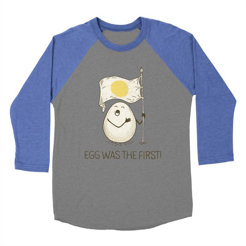 anthem of eggs  Men's Baseball Triblend Longsleeve T-Shirt by gotoup's Artist Shop