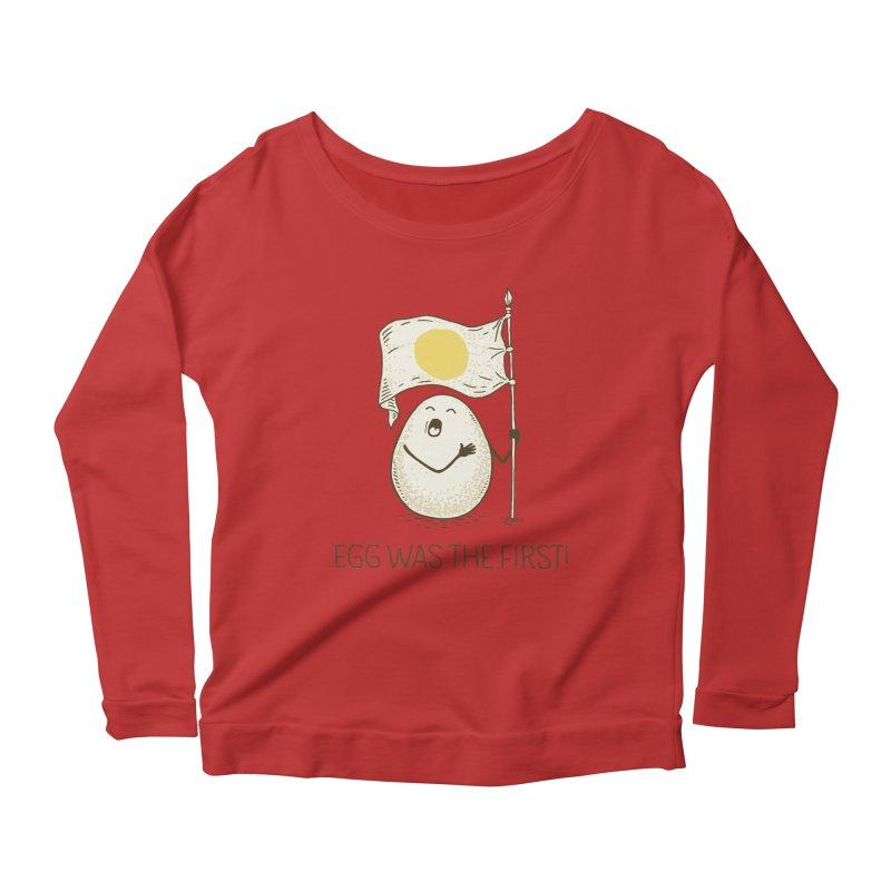 anthem of eggs  Women's Scoop Neck Longsleeve T-Shirt by gotoup's Artist Shop