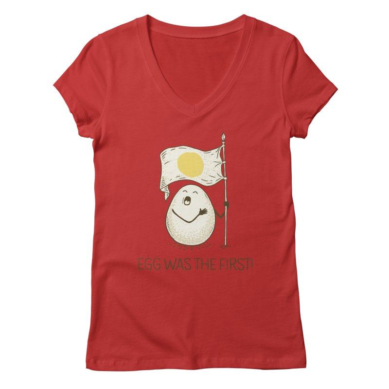 anthem of eggs  Women's V-Neck by gotoup's Artist Shop