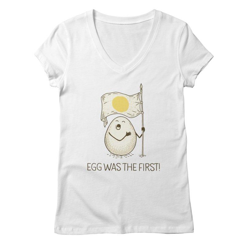 anthem of eggs  Women's V-Neck by gotoup's Artist Shop