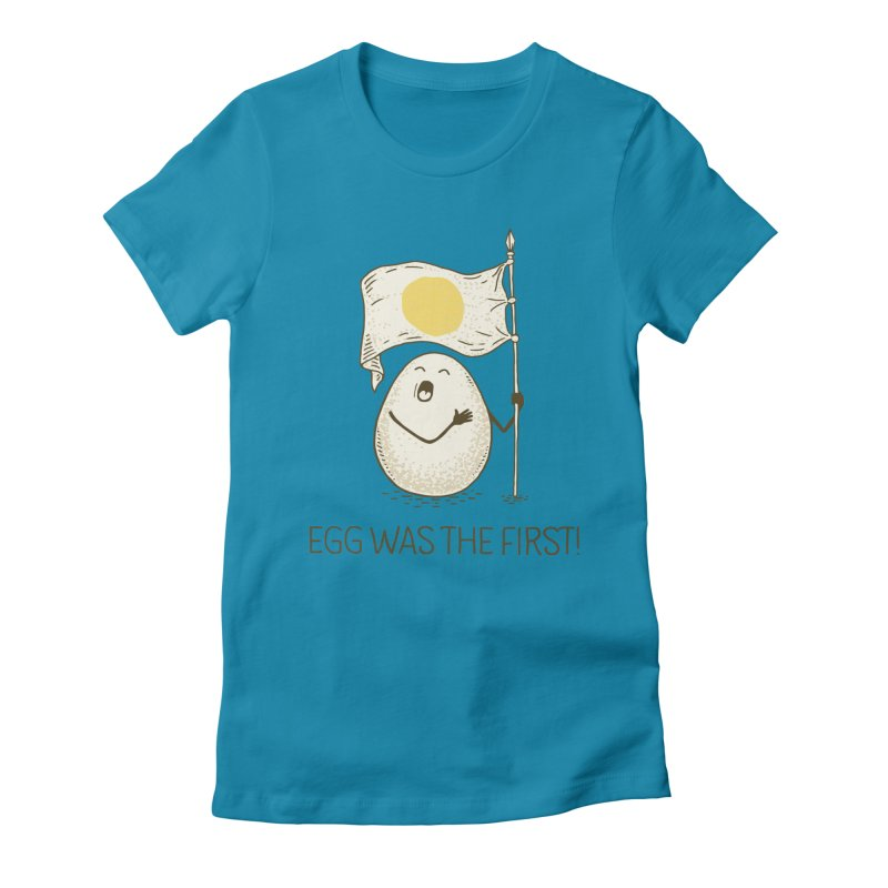 anthem of eggs  Women's Fitted T-Shirt by gotoup's Artist Shop