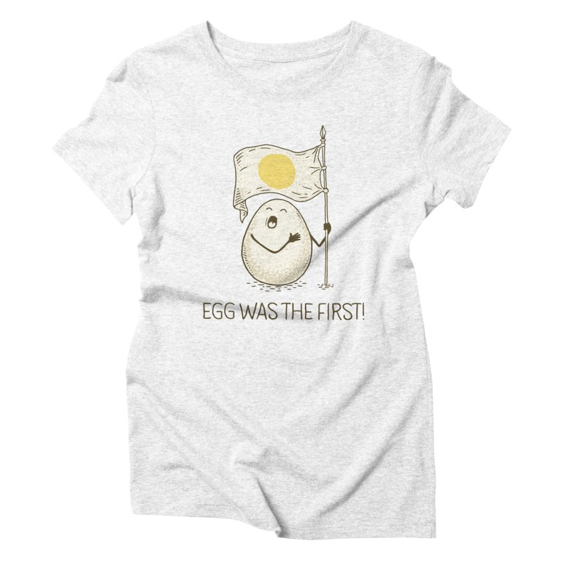 anthem of eggs  Women's Triblend T-shirt by gotoup's Artist Shop