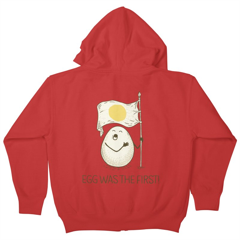 anthem of eggs  Kids Zip-Up Hoody by gotoup's Artist Shop