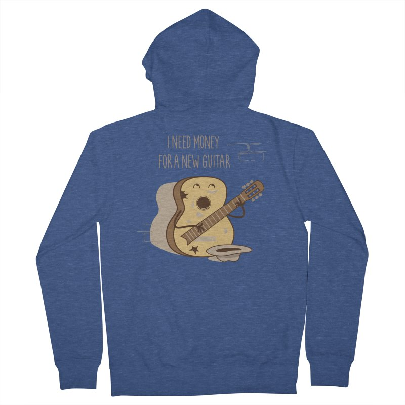 new guitar Men's Zip-Up Hoody by gotoup's Artist Shop
