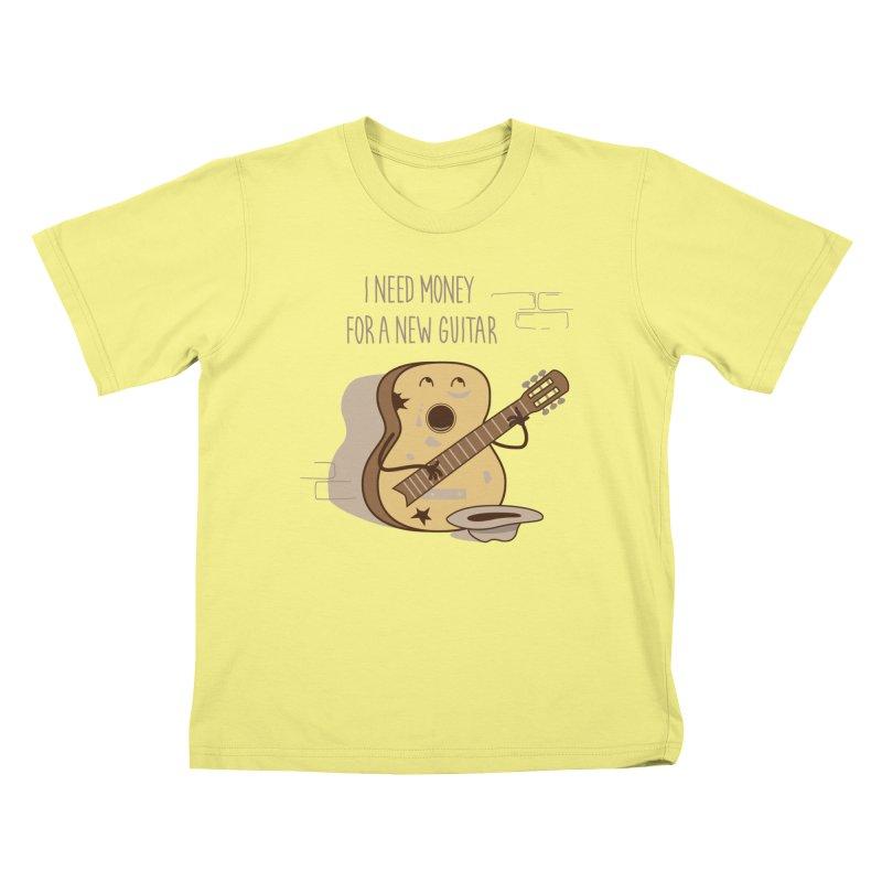 new guitar Kids T-shirt by gotoup's Artist Shop