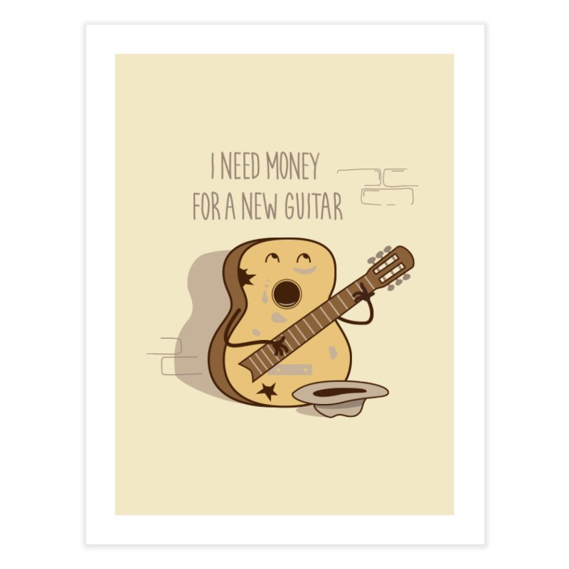 new guitar Home Fine Art Print by gotoup's Artist Shop