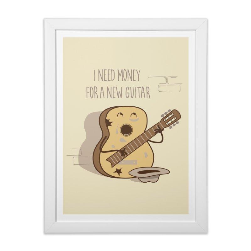 new guitar Home Framed Fine Art Print by gotoup's Artist Shop