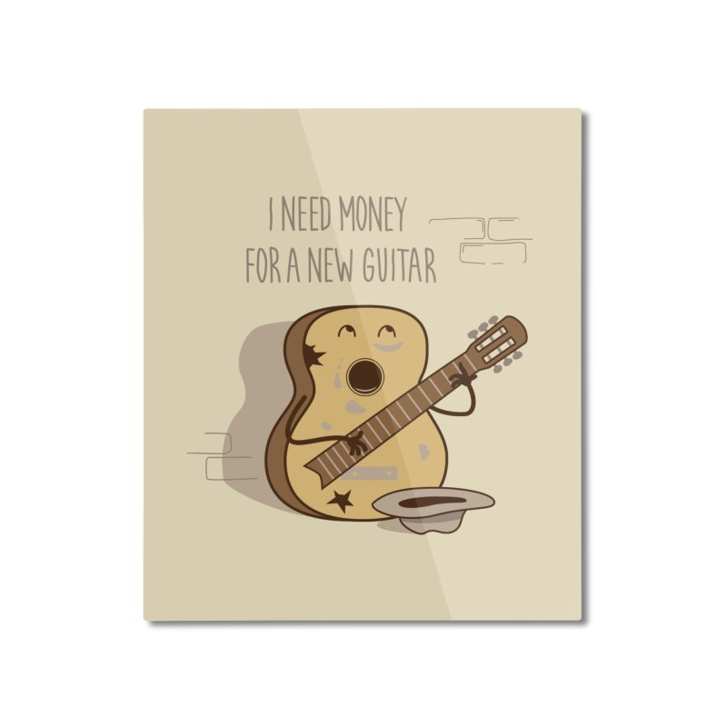 new guitar Home Mounted Aluminum Print by gotoup's Artist Shop