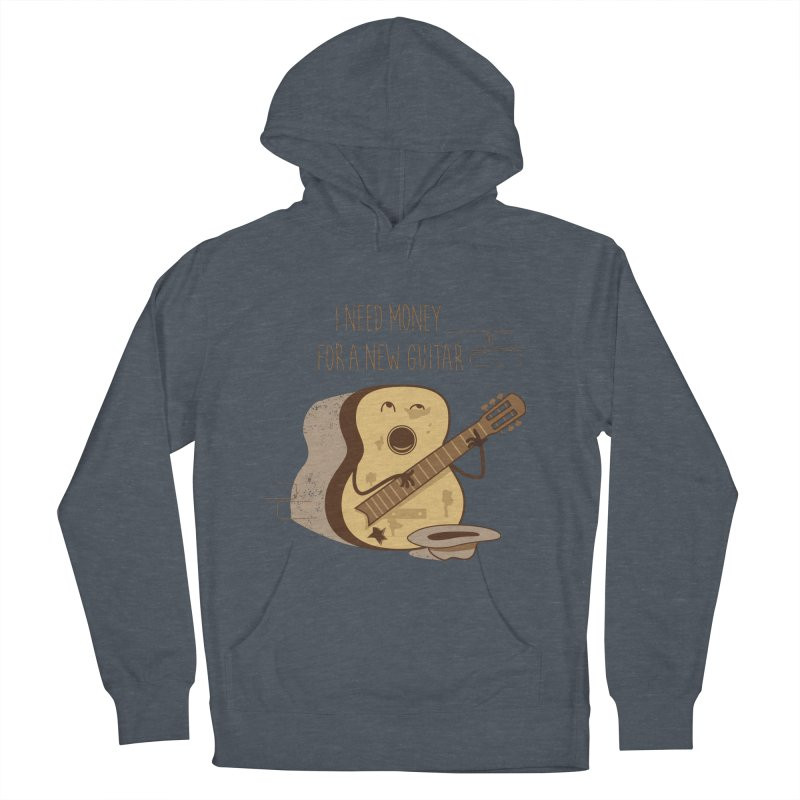 new guitar Men's French Terry Pullover Hoody by gotoup's Artist Shop