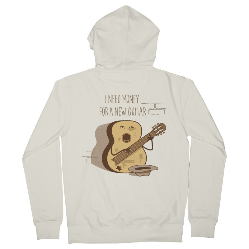 new guitar Women's French Terry Zip-Up Hoody by gotoup's Artist Shop
