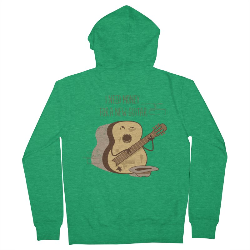 new guitar Men's French Terry Zip-Up Hoody by gotoup's Artist Shop