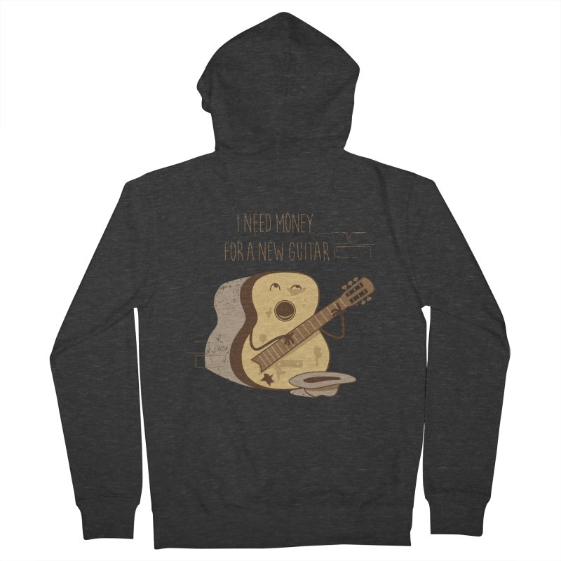 new guitar Men's Zip-Up Hoody by gotoup's Artist Shop