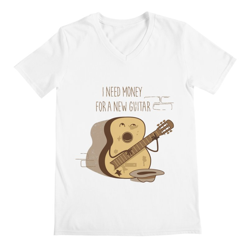 new guitar Men's V-Neck by gotoup's Artist Shop