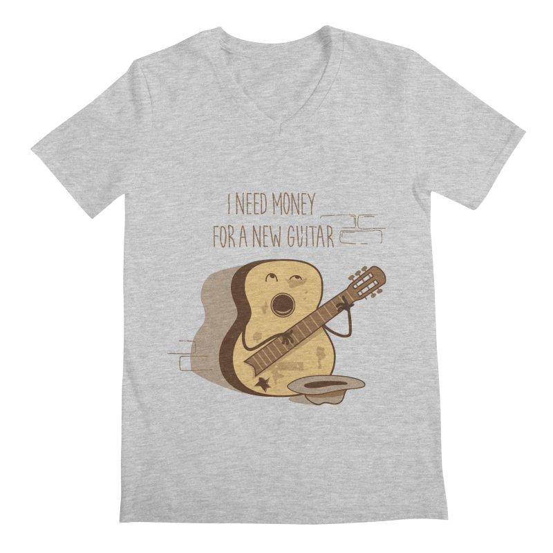 new guitar Men's V-Neck by gotoup's Artist Shop