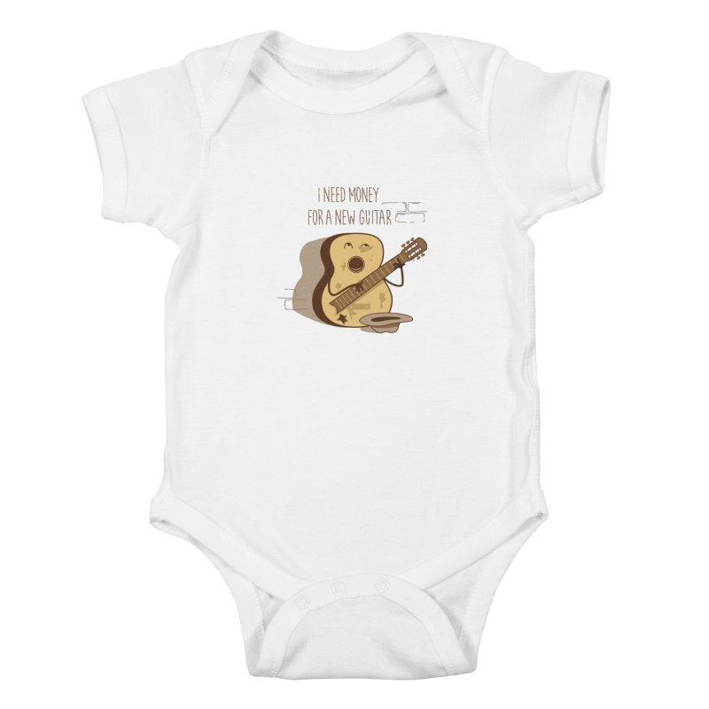 new guitar Kids Baby Bodysuit by gotoup's Artist Shop
