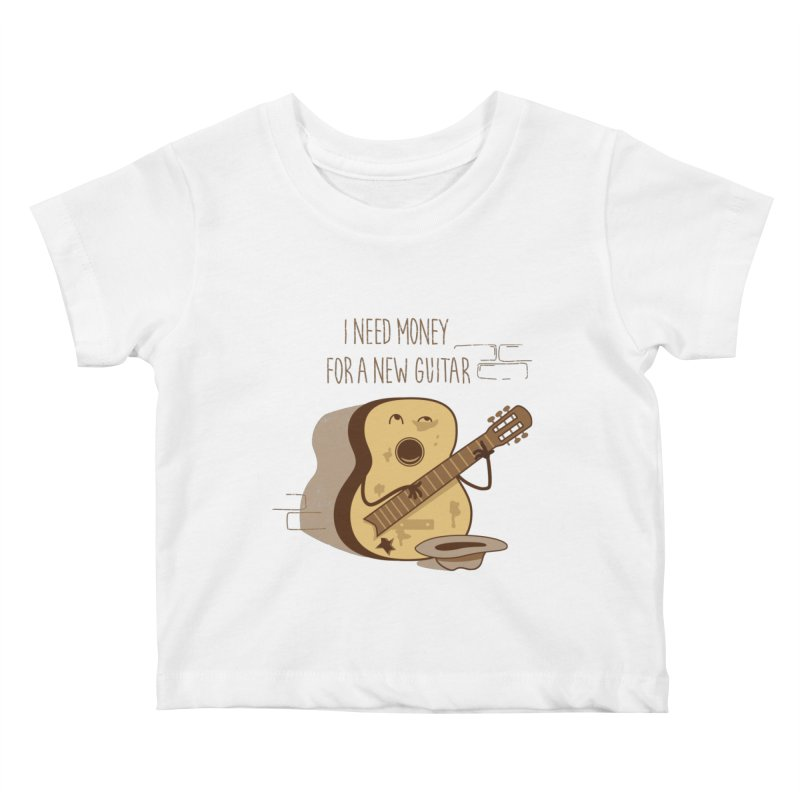 new guitar Kids Baby T-Shirt by gotoup's Artist Shop
