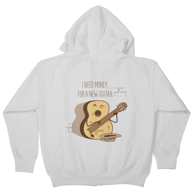 new guitar Kids Zip-Up Hoody by gotoup's Artist Shop