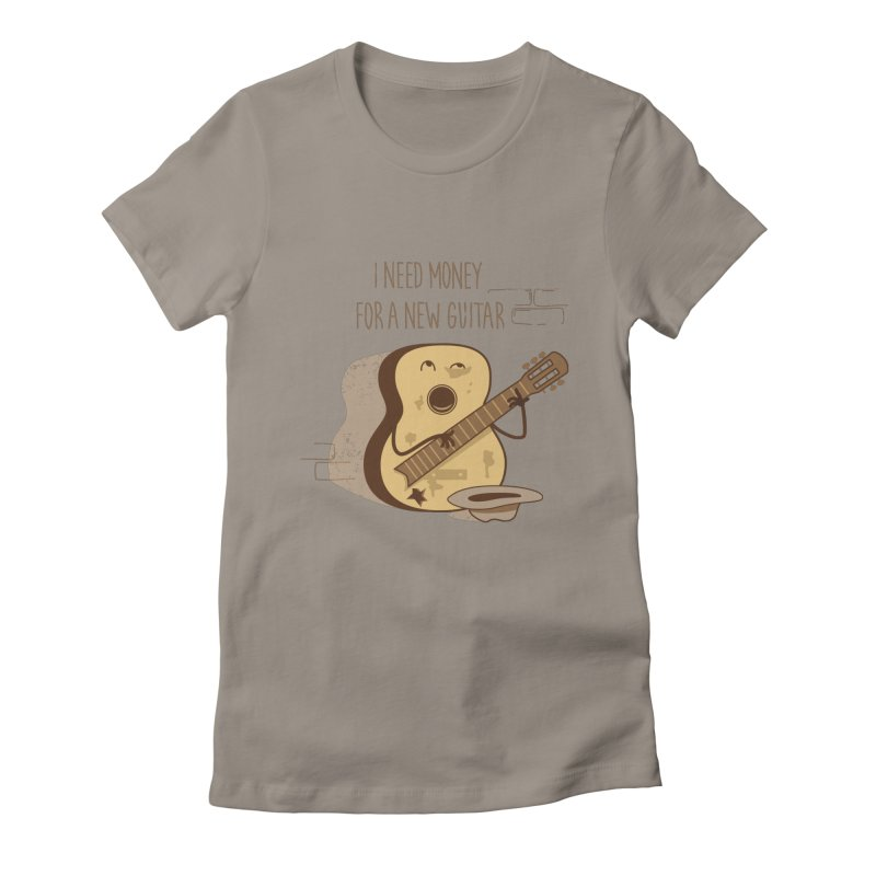 new guitar Women's Fitted T-Shirt by gotoup's Artist Shop