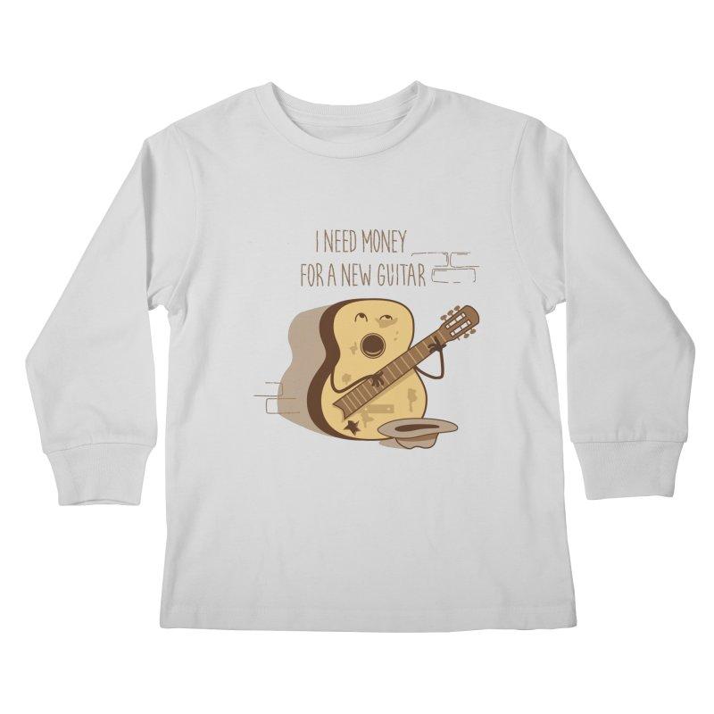 new guitar Kids Longsleeve T-Shirt by gotoup's Artist Shop