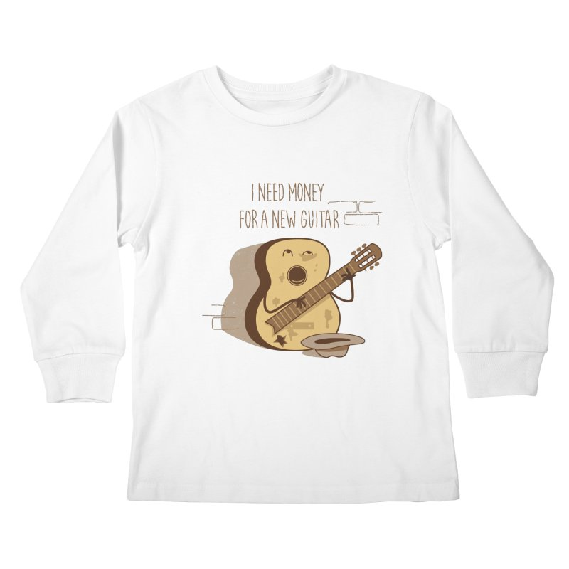 new guitar Kids Longsleeve T-Shirt by gotoup's Artist Shop