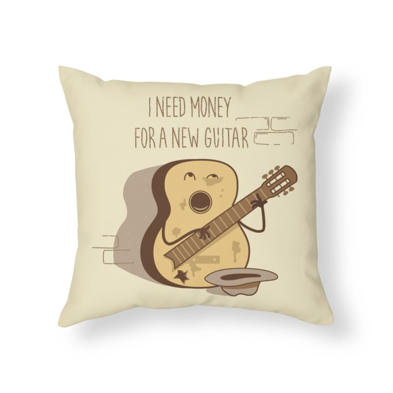 new guitar Home Throw Pillow by gotoup's Artist Shop