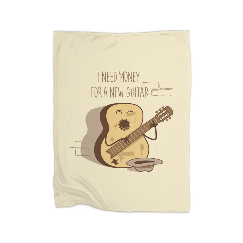 new guitar Home Blanket by gotoup's Artist Shop