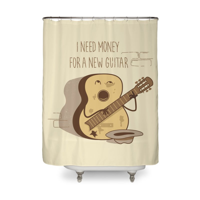 new guitar Home Shower Curtain by gotoup's Artist Shop