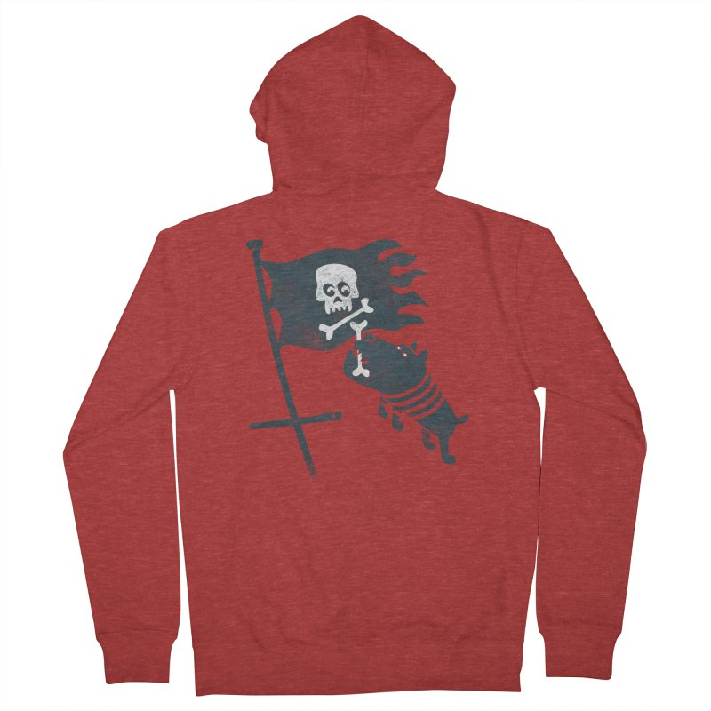 Jolly Roger Women's French Terry Zip-Up Hoody by gotoup's Artist Shop