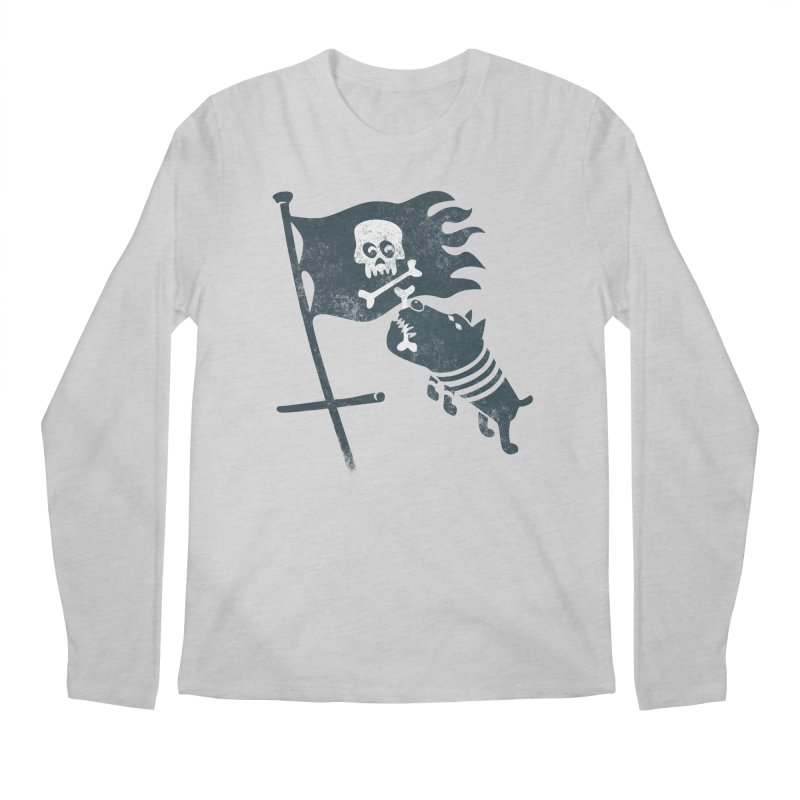 Jolly Roger Men's Longsleeve T-Shirt by gotoup's Artist Shop