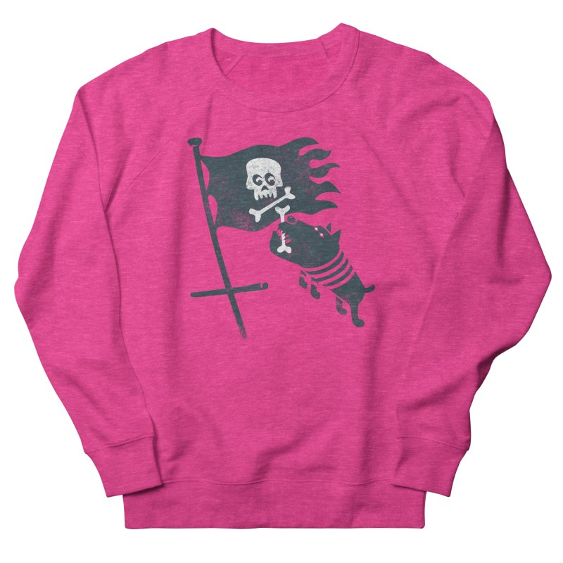 Jolly Roger Women's French Terry Sweatshirt by gotoup's Artist Shop
