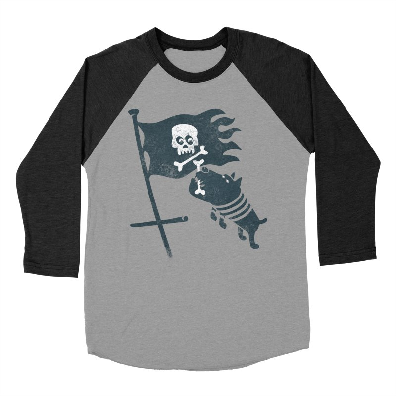 Jolly Roger Men's Baseball Triblend T-Shirt by gotoup's Artist Shop