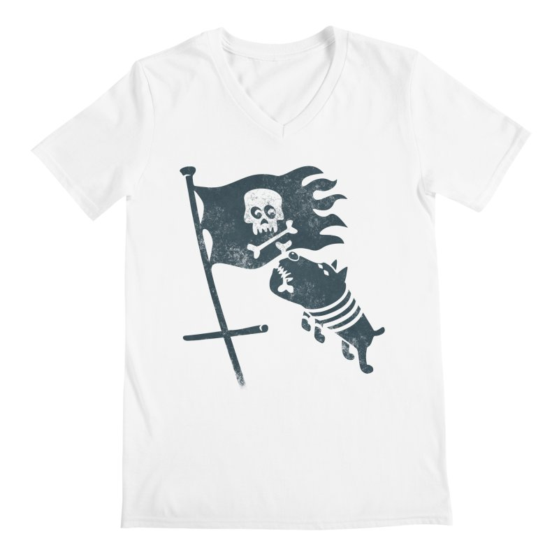 Jolly Roger Men's V-Neck by gotoup's Artist Shop