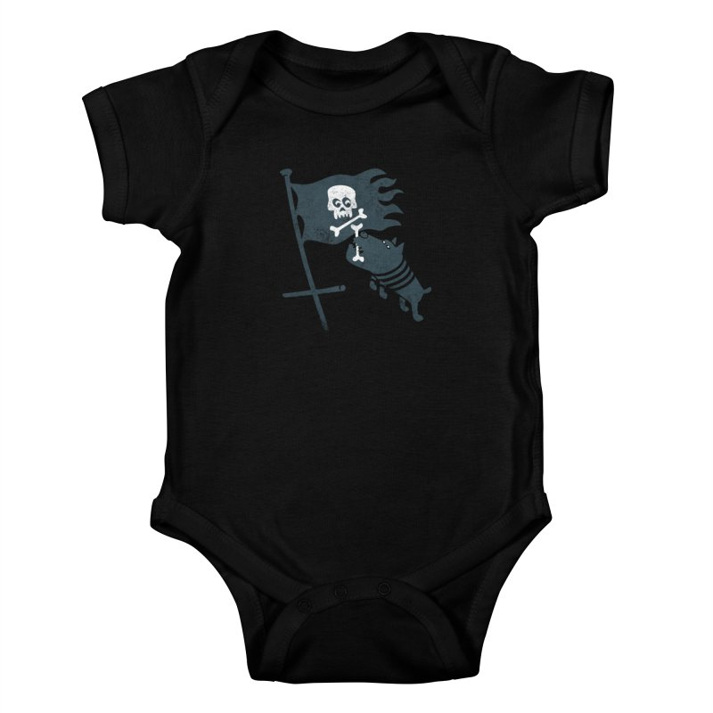 Jolly Roger Kids Baby Bodysuit by gotoup's Artist Shop