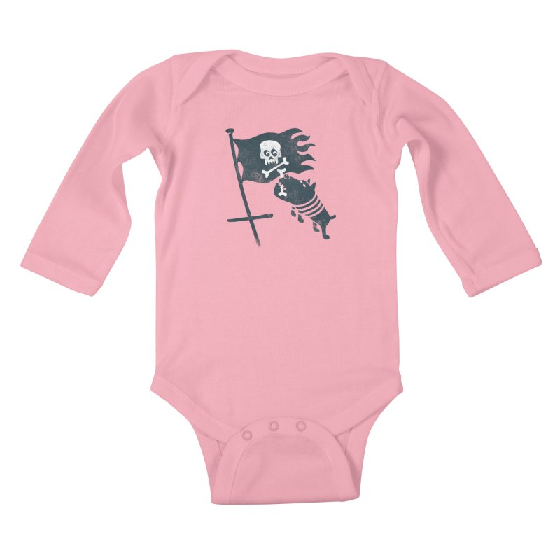 Jolly Roger Kids Baby Longsleeve Bodysuit by gotoup's Artist Shop