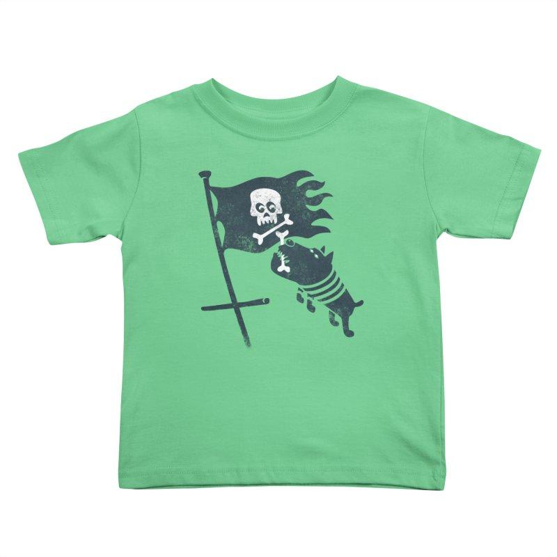 Jolly Roger Kids Toddler T-Shirt by gotoup's Artist Shop