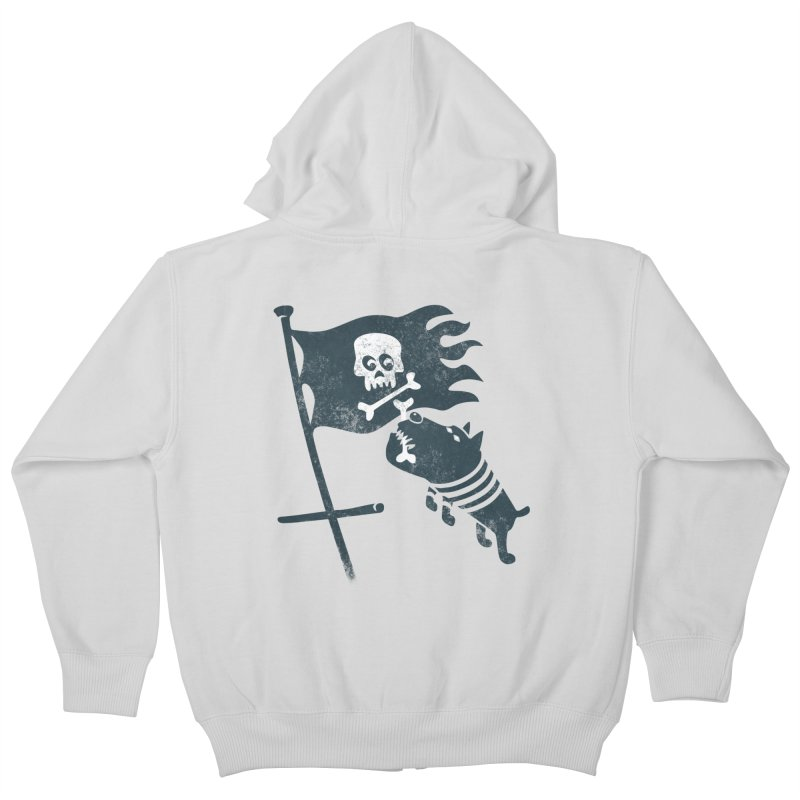 Jolly Roger Kids Zip-Up Hoody by gotoup's Artist Shop