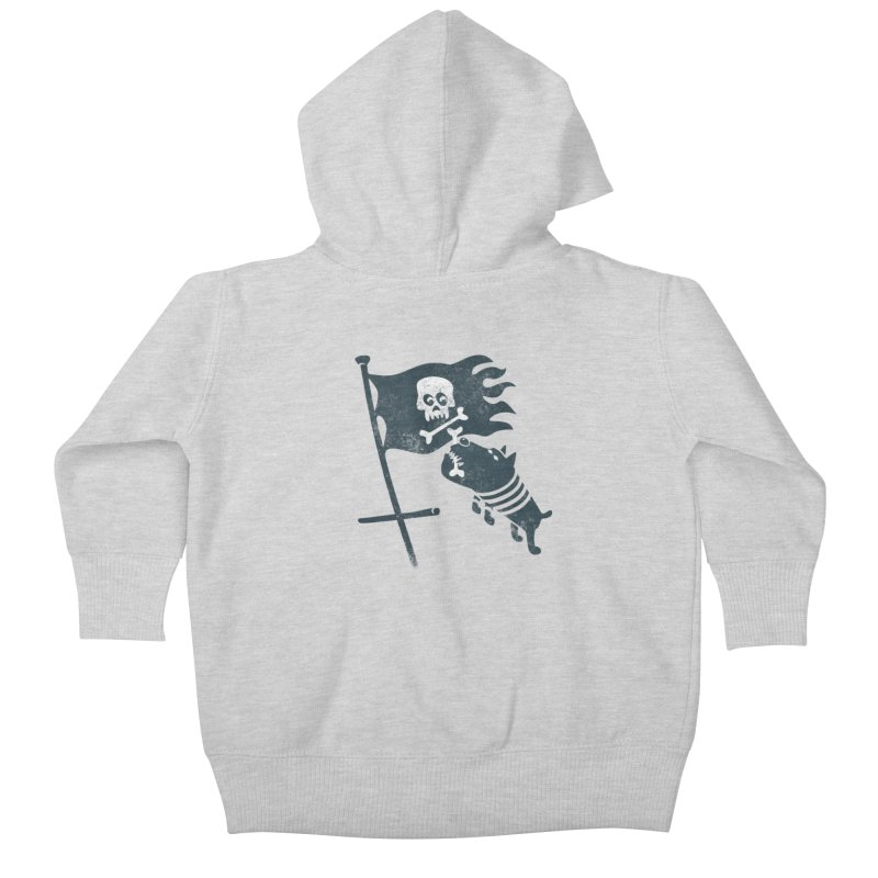 Jolly Roger Kids Baby Zip-Up Hoody by gotoup's Artist Shop