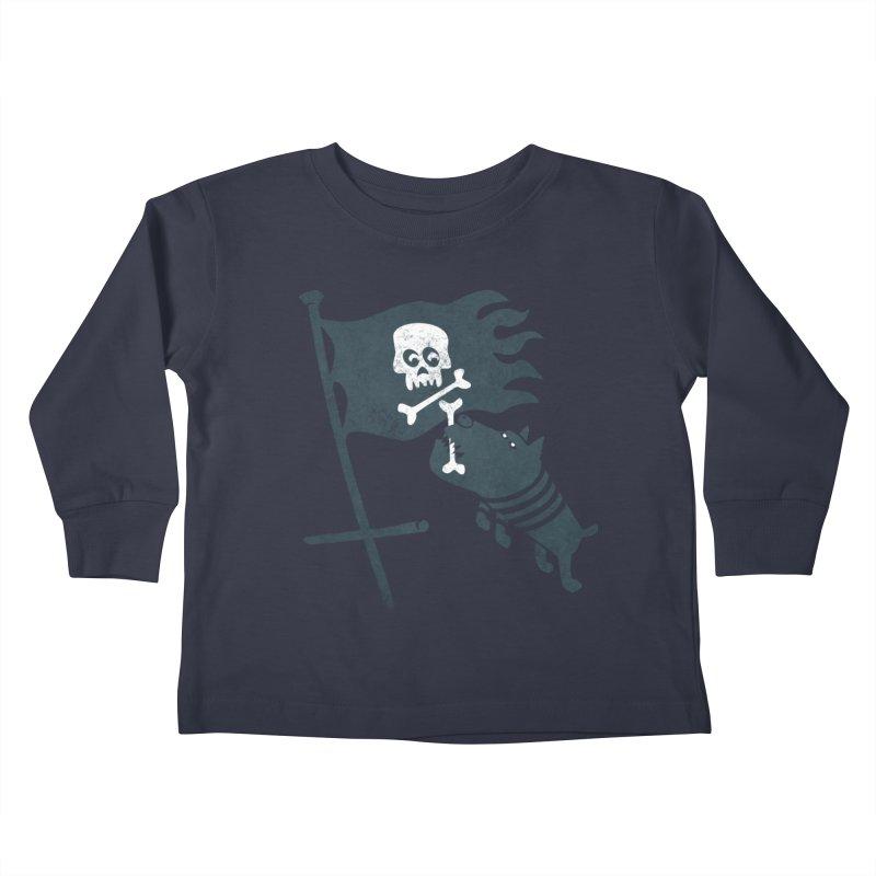 Jolly Roger Kids Toddler Longsleeve T-Shirt by gotoup's Artist Shop