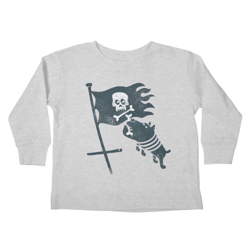 Jolly Roger Kids Toddler Longsleeve T-Shirt by gotoup's Artist Shop
