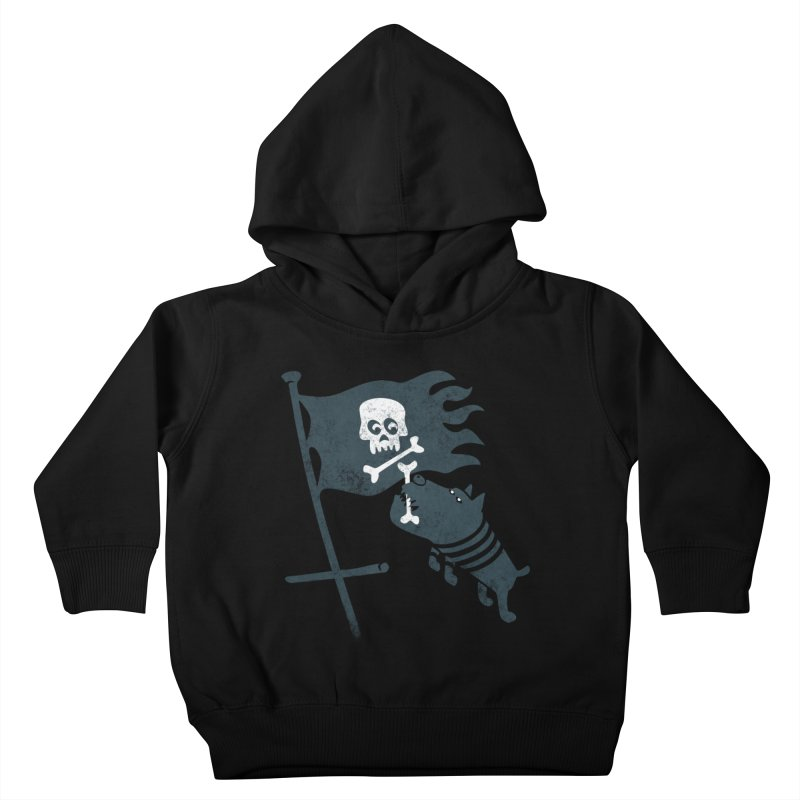 Jolly Roger Kids Toddler Pullover Hoody by gotoup's Artist Shop