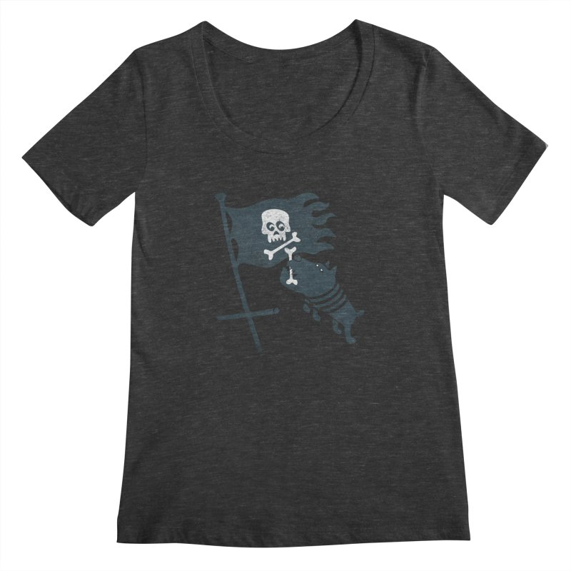 Jolly Roger Women's Scoopneck by gotoup's Artist Shop