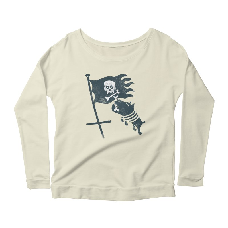 Jolly Roger Women's Longsleeve Scoopneck  by gotoup's Artist Shop