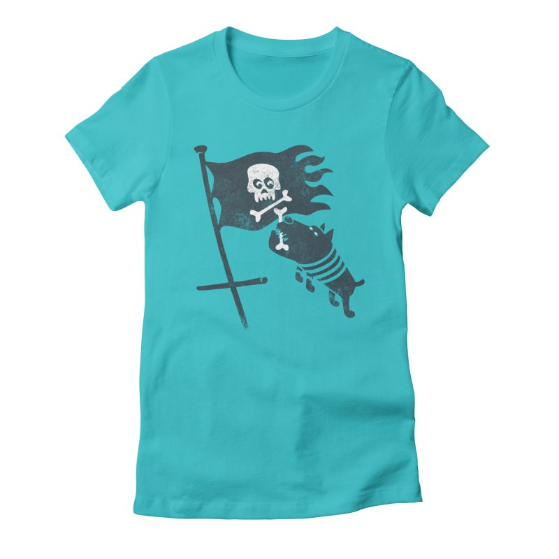 Jolly Roger Women's Fitted T-Shirt by gotoup's Artist Shop