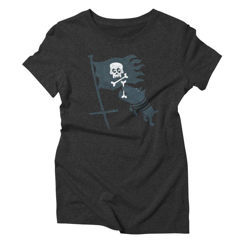 Jolly Roger Women's Triblend T-shirt by gotoup's Artist Shop