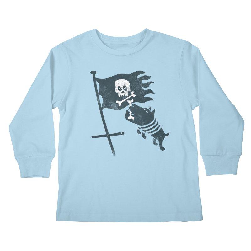 Jolly Roger Kids Longsleeve T-Shirt by gotoup's Artist Shop