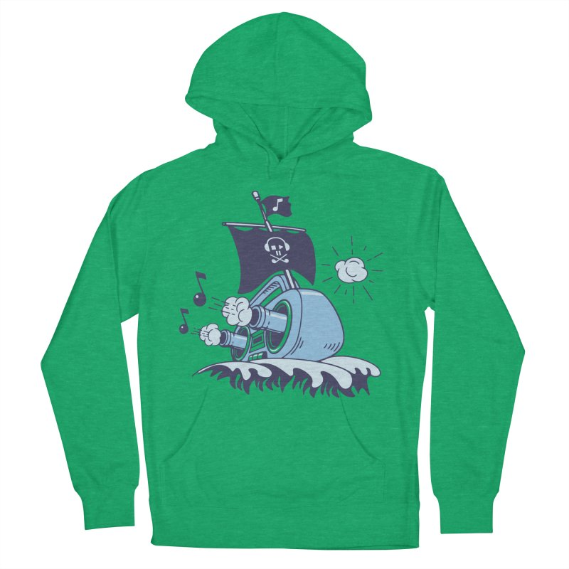 MUSICAL SHIP Men's French Terry Pullover Hoody by gotoup's Artist Shop