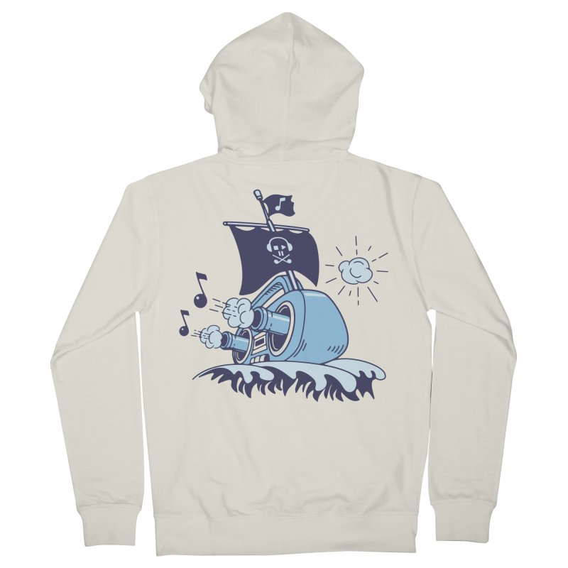 MUSICAL SHIP Women's French Terry Zip-Up Hoody by gotoup's Artist Shop