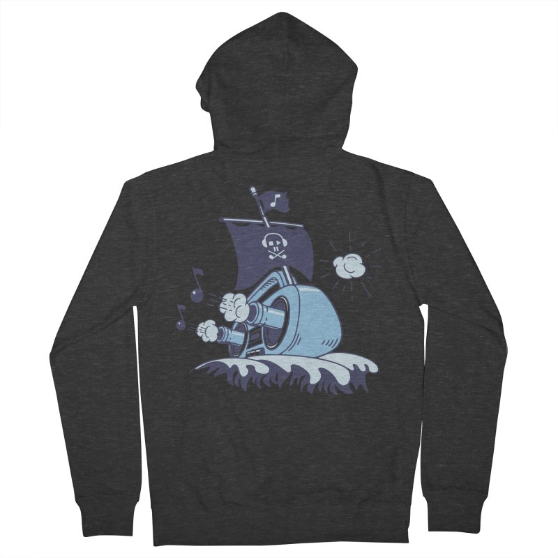 MUSICAL SHIP Men's Zip-Up Hoody by gotoup's Artist Shop